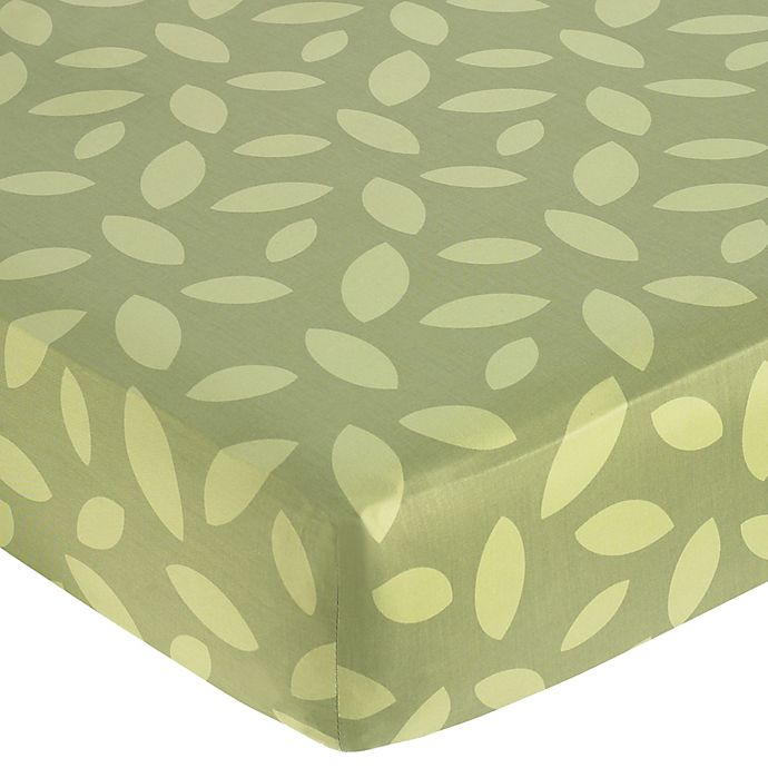 Alternate image 1 for Sweet Jojo Designs Jungle Time Fitted Crib Sheet in Leaf Print
