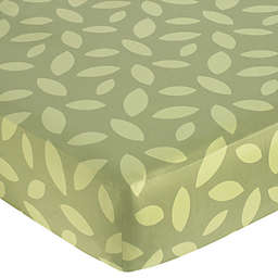 Sweet Jojo Designs Jungle Time Fitted Crib Sheet in Leaf Print