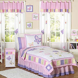 Sweet Jojo Designs Butterfly Bedding Collection in Pink/Purple