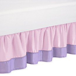Sweet Jojo Designs Butterfly Queen Bed Skirt in Pink/Purple