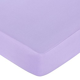 Sweet Jojo Designs® Butterfly Fitted Crib Sheet in Purple