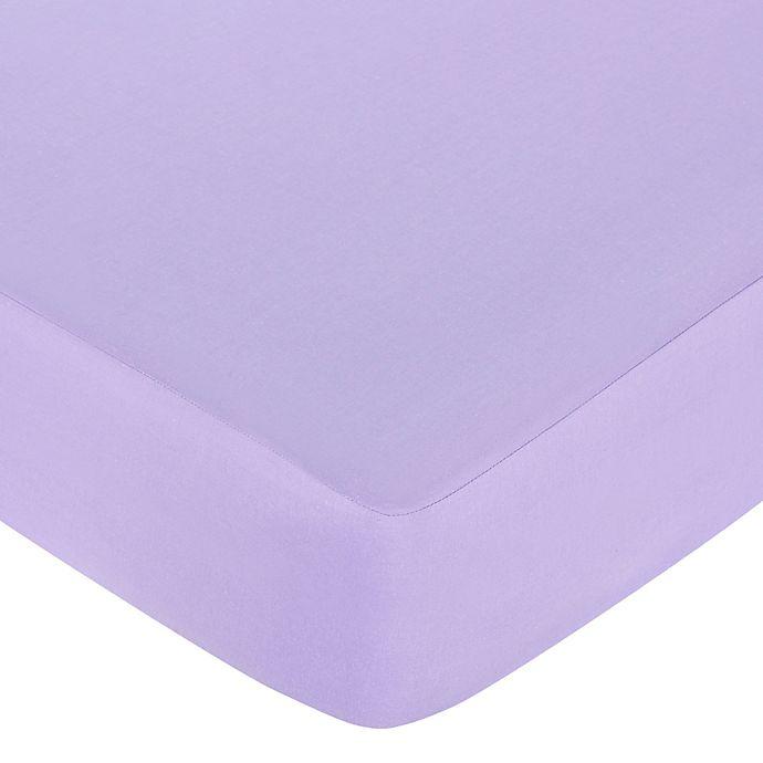 Alternate image 1 for Sweet Jojo Designs® Butterfly Fitted Crib Sheet in Purple
