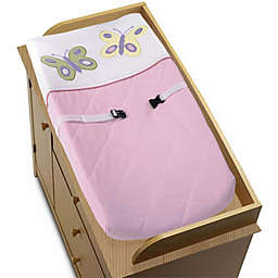 Sweet Jojo Designs® Butterfly Changing Pad Cover in Pink/Purple