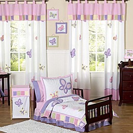 Sweet Jojo Designs Butterfly Toddler Bedding Collection in Pink/Purple