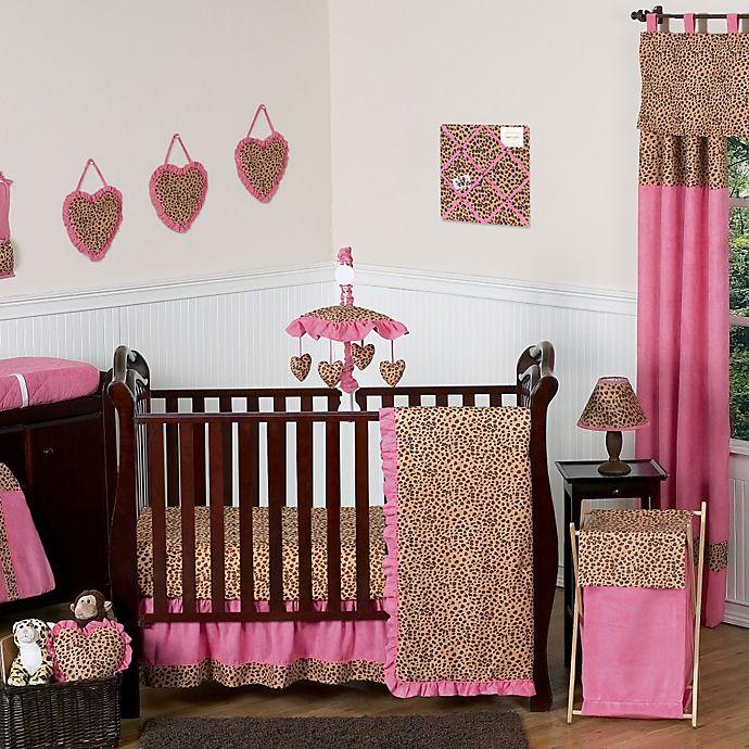 Alternate image 1 for Sweet Jojo Designs Cheetah Girl Crib Bedding Collection