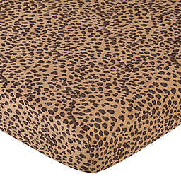 Sweet Jojo Designs Cheetah Girl Crib Sheet in Cheetah Print