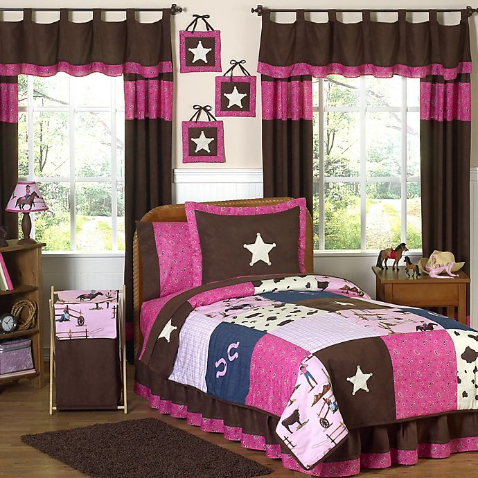 Alternate image 1 for Sweet Jojo Designs Cowgirl 4-Piece Twin Comforter Set