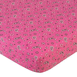 Sweet Jojo Designs® Cowgirl Fitted Crib Sheet in Bandana Print
