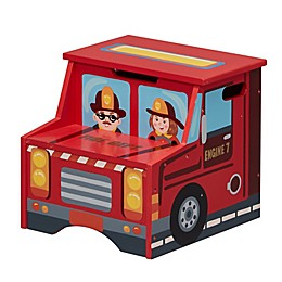 Fantasy Fields Firefighter Storage Step Stool in Red