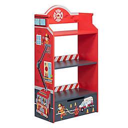 Fantasy Fields by Teamson Kids Firefighter Eco-Friendly Bookshelf in Red