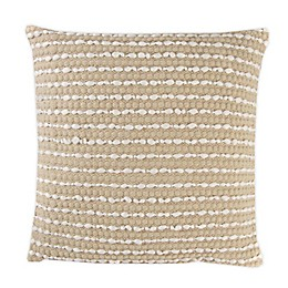 Hand Woven Banded Square Throw Pillow