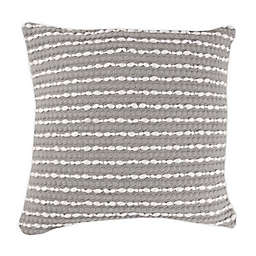 Hand Woven Banded Square Throw Pillow in Grey