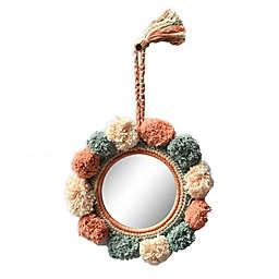 Global Caravan™ Pom Pom 8-Inch Round Wall Mirror