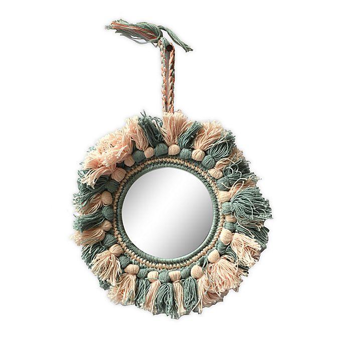 Alternate image 1 for Global Caravan™ Tassel 8-Inch Round Wall Mirror