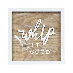 "Prinz ""Whip It Good"" 8-Inch x 8-Inch Wood Rev Box Wall Art in Natural"