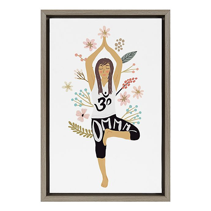 Alternate image 1 for Yoga 12-Inch x 18-Inch Framed Canvas Wall Art