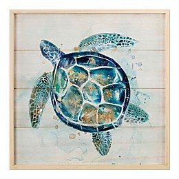 Wadou Turtle 20-Inch x 20-Inch Wooden Framed Print Wall Art