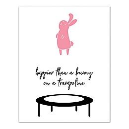 Trampoline Bunny 11x14 Canvas Wall Art