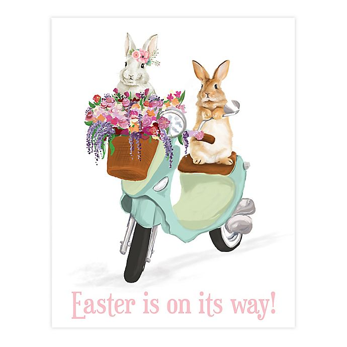 Alternate image 1 for Easter's On Its Way Scooter 11x14 Canvas Wall Art