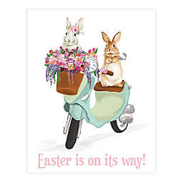 Easter's On Its Way Scooter 11x14 Canvas Wall Art