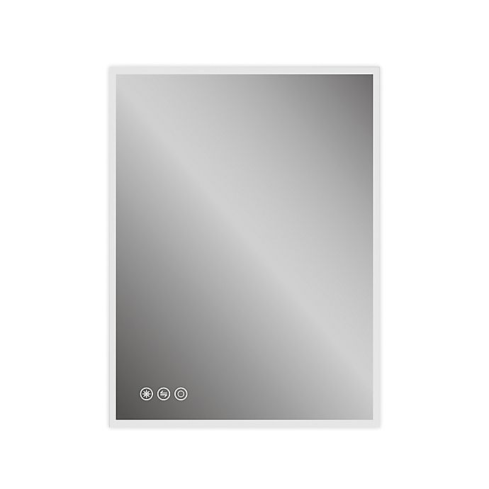 48 Inch X 36 Inch Rectangular Led Lighted Bathroom Mirror With