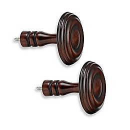 Cambria® Premier Wood Drapery Spindle in Cherry (Set of 2)