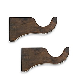 Cambria® Premier Wood Drapery Bracket in Chocolate (Set of 2)