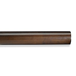 Cambria® Premier Wood Decorative Smooth Drapery Pole in Chocolate