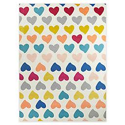 Hearthstone Cute Hearts Multicolor Area Rug