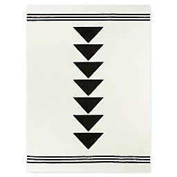 Everett Woven Area Rug in Black/White