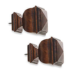 Cambria® Classic Wood Napoleon Finial in Dark Brown (Set of 2)