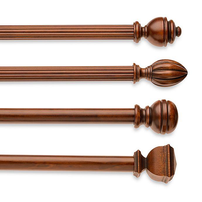 Alternate image 1 for Cambria® Classic Wood Decorative Window Hardware in Medium Brown