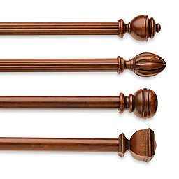 Cambria® Classic Wood Decorative Window Hardware in Medium Brown