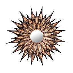 TOV Furniture Sunflower 36-Inch Circular Wall Mirror in Antique Gold