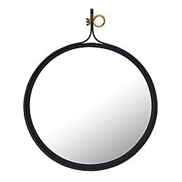 TOV Furniture Gia 29.5-Inch Circular Wall Mirror in Black