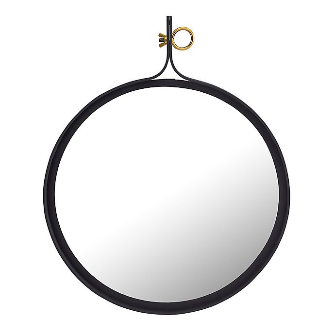 Alternate image 1 for TOV Furniture Gia 29.5-Inch Circular Wall Mirror in Black