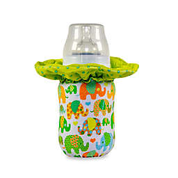 WarmZe Portable Bottle Warmer Starter Kit in Green Elephant