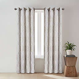 O&O by Olivia & Oliver™ Zander Geo 84-Inch Grommet Window Curtain Panel in Taupe