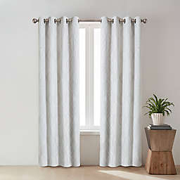 O&O by Olivia & Oliver™ Zander Geo 108-Inch Grommet Window Curtain Panel in White
