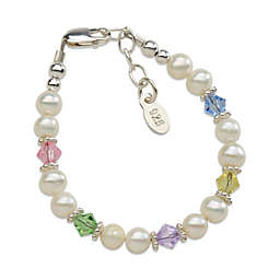 Cherished Moments New Arrival Sterling Silver with Freshwater Cultured Pearls and Crystals Bracelet