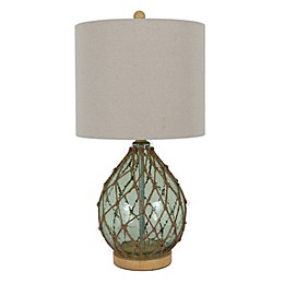 Décor Therapy Rope Wrapped Taple Lamp in Spa Blue