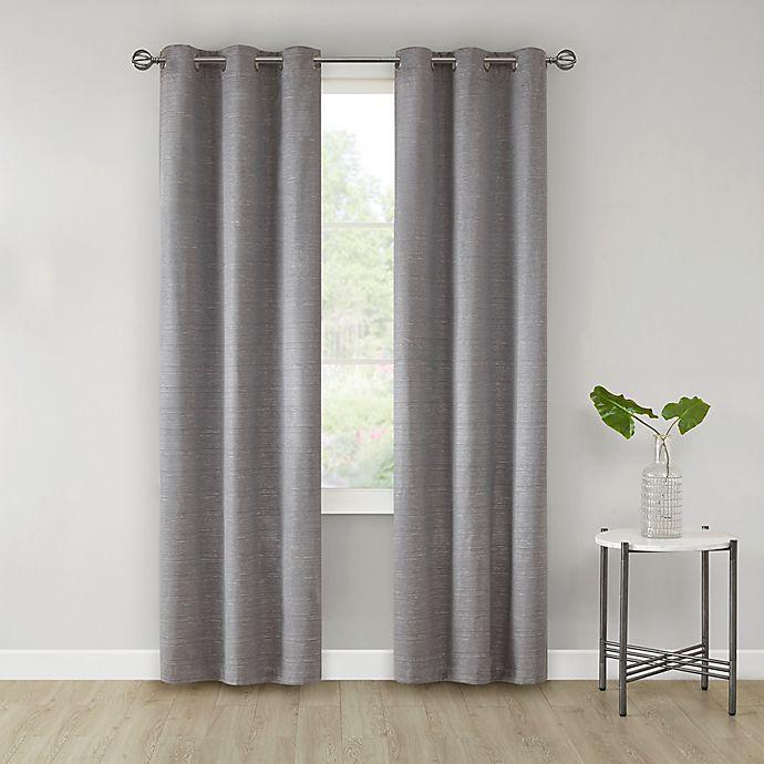 Alternate image 1 for SALT™ Sandspoint 2-Pack Grommet Room Darkening Window Curtain Panels in Grey