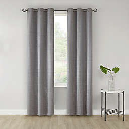 SALT™ Sandspoint 2-Pack Grommet Room Darkening Window Curtain Panels in Grey