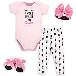 Little Treasure™ Size 0-6M 4-Piece Flawless Gift Set in Pink