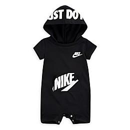 Nike® Sportswear Hooded Romper in Black/White