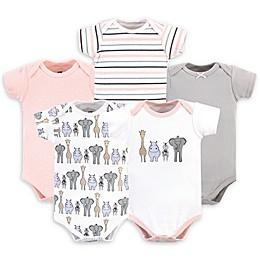 Hudson Baby® 5-Pack Safari Short Sleeve Bodysuits
