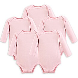 Luvable Friends® 5-Pack Long Sleeve Bodysuits in Pink