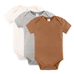 Colored Organics® 3-Pack Short Sleeve Organic Cotton Bodysuits in Ginger