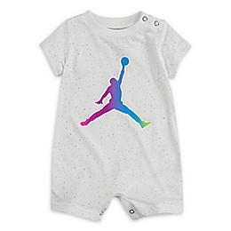 Jordan® Rainbow Logo Sparkle Romper in White