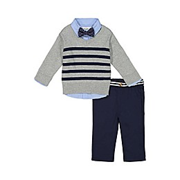 Beetle & Thread® 4-Piece Sweater, Shirt, Pant and Bow Tie Set